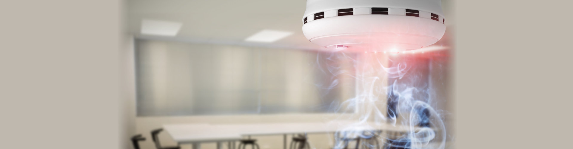Composite image of smoke and fire detector
